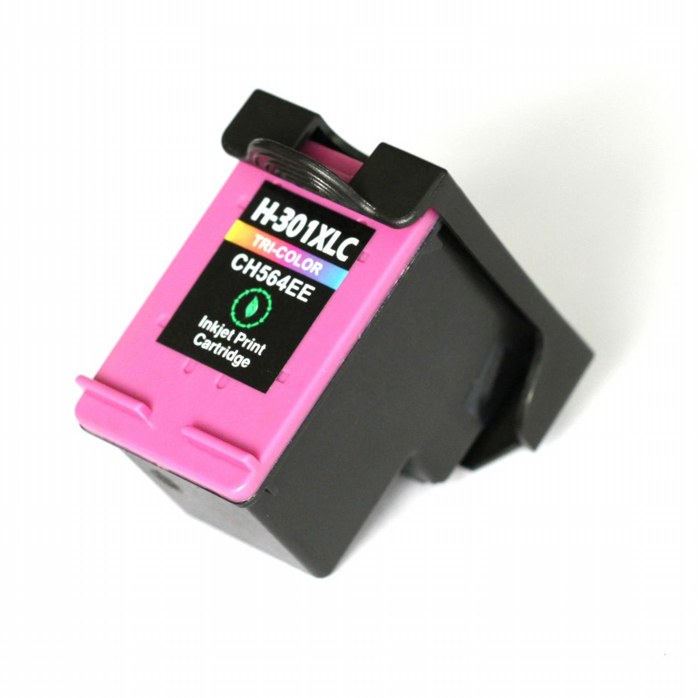 Image of   HP 301 XL C (CH564EE) Farvet kompatibel blækpatron (17 ml)