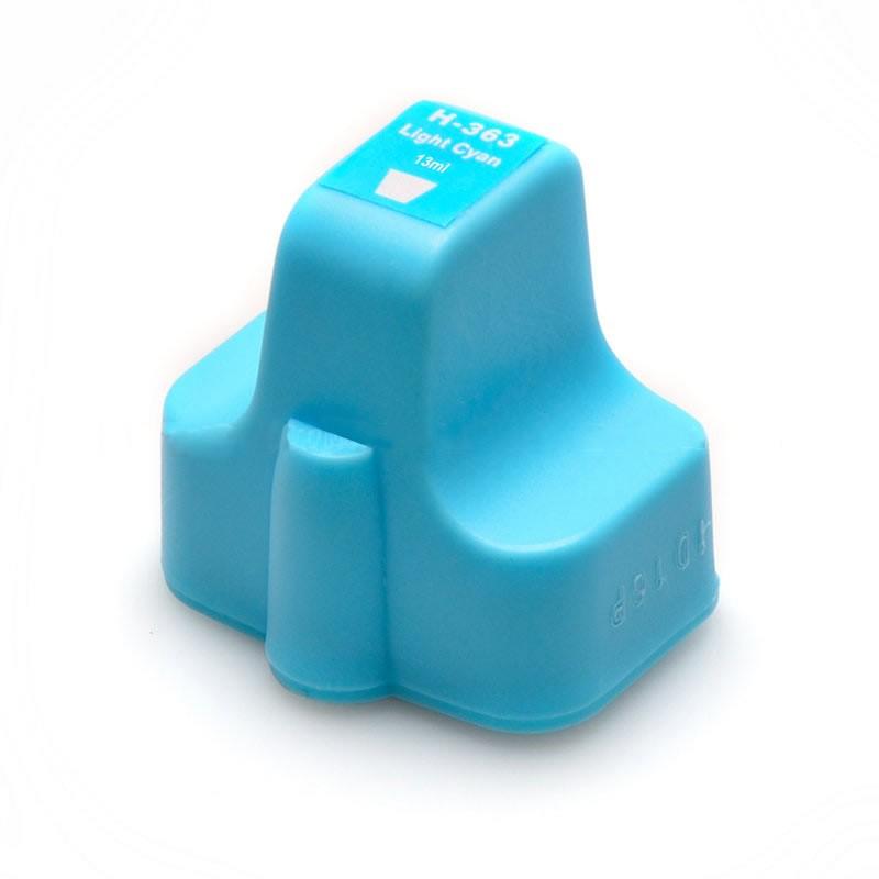 Image of   HP 363 XL (C8774EE) 13 ml lys Cyan kompatibel blækpatron