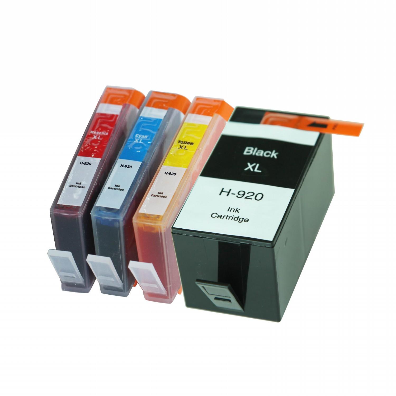 hp 920xl set of 4 ink cartridges black cyan magenta yellow hp ink cartridges pixojet ink. Black Bedroom Furniture Sets. Home Design Ideas