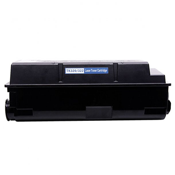 Kyocera TK320/322 Lasertoner, Sort, 15000 sider