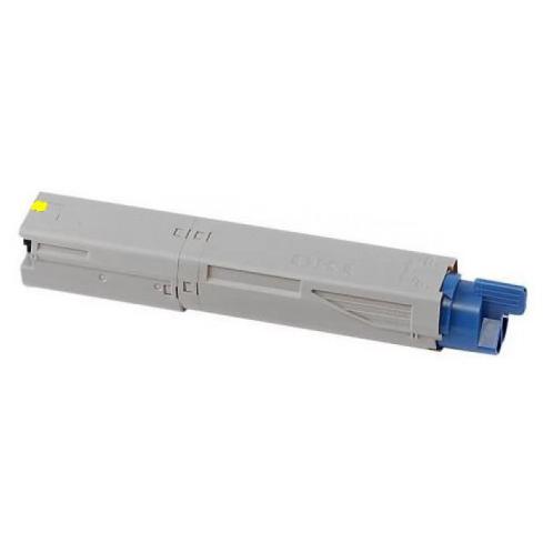 Image of   OKI C3300Y Lasertoner, Gul, Kompatibel, 2000 sider