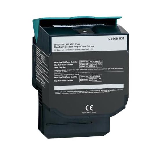 Lexmark C540H1KG BK Lasertoner, sort, kompatibel (2500 sider)