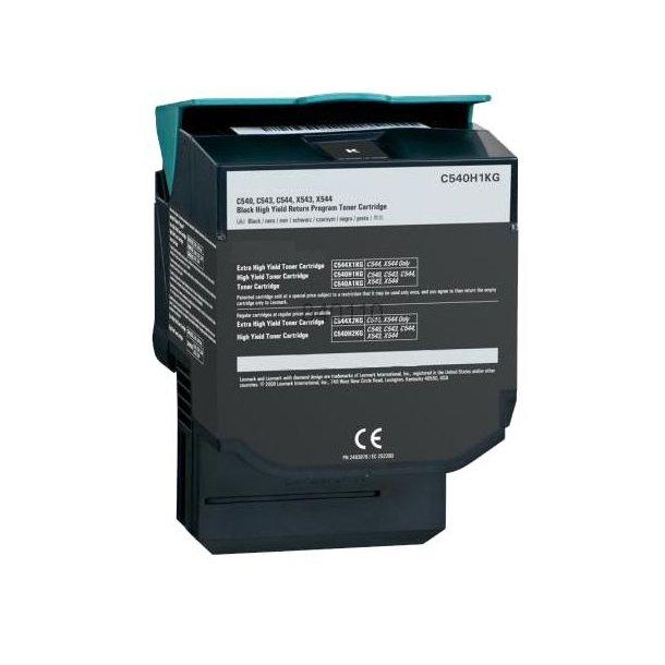 Lexmark C540H1KG BK Lasertoner, sort, (2500 sider)