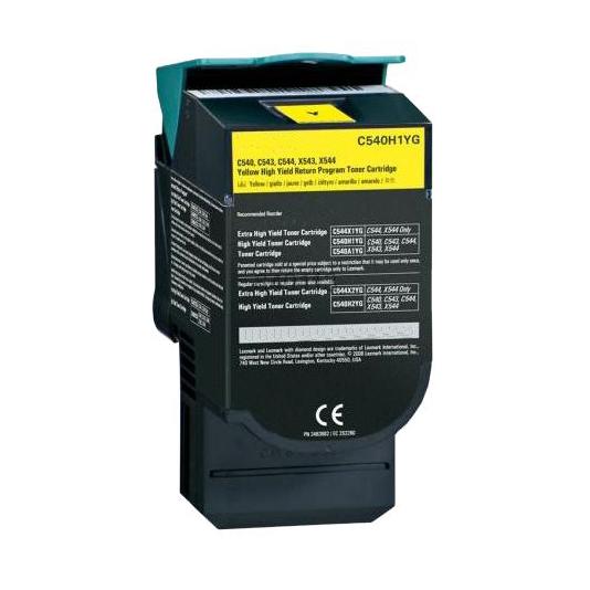Lexmark C540H1YG Y Lasertoner, Gul, kompatibel (2000 sider)
