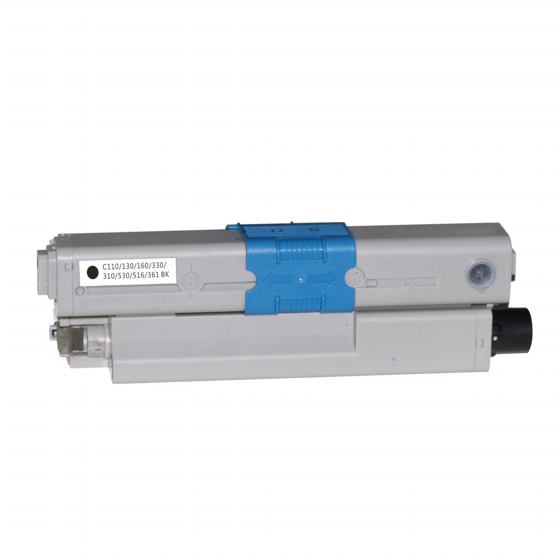 Image of   OKI C110BK (44250724) Lasertoner, Sort, Kompatibel, 2500 sider