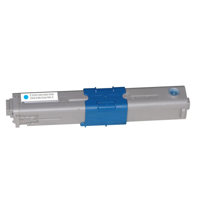 Image of   OKI C110C (44250723) Lasertoner, Cyan, Kompatibel, 2500 sider