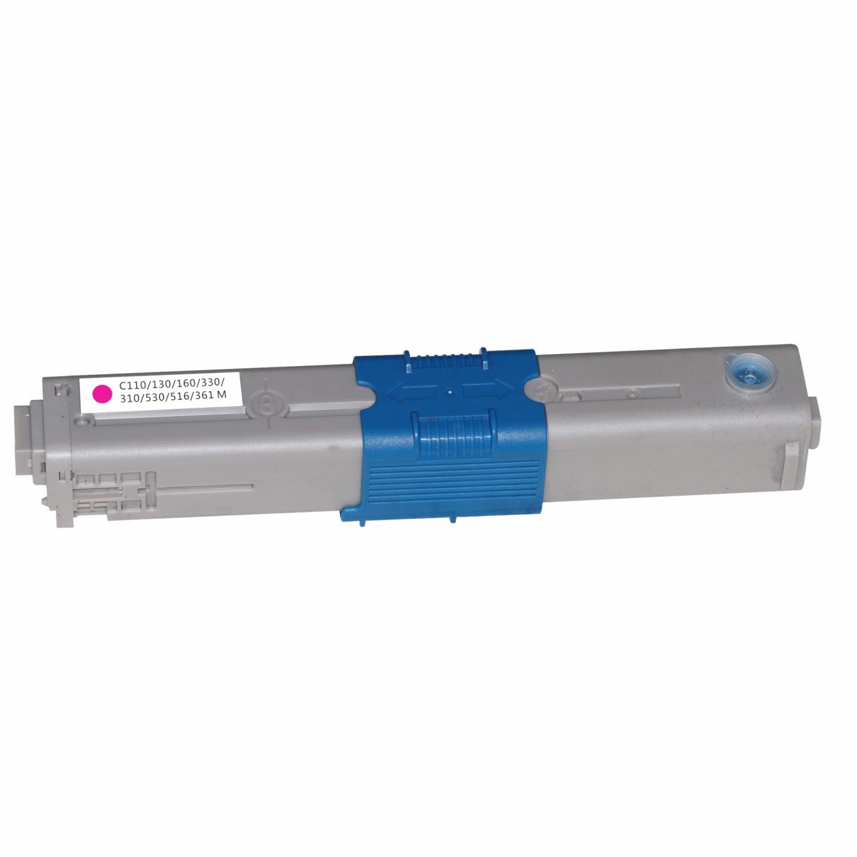 Image of   OKI C110M (44250722) Lasertoner, Magenta, Kompatibel, 2500 sider