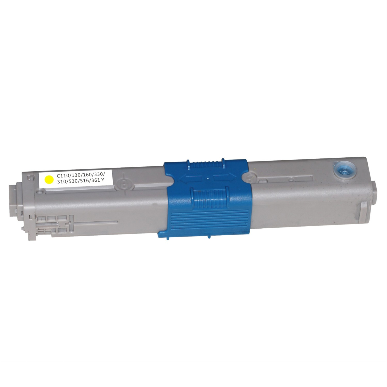 Image of   OKI C110Y (44250721) Lasertoner, Gul, Kompatibel, 2500 sider