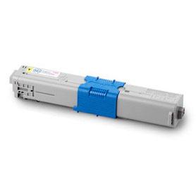 Image of   OKI C301 Y Lasertoner, Gul, Kompatibel, 1500 sider