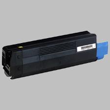 Image of   OKI C5100 Y Lasertoner, Gul, kompatibel (5000 sider)