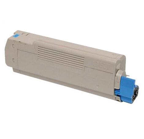 Image of   OKI C5800/C5900C (43324423) Lasertoner, Cyan, Kompatibel, 5000 sider