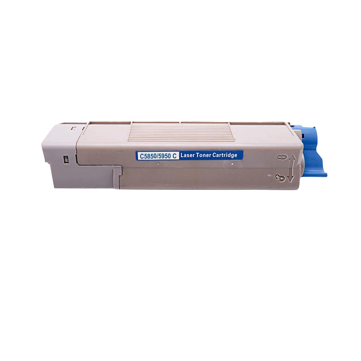Image of   OKI C5850/5950/MC560 C Lasertoner, Cyan, kompatibel (6000 sider)