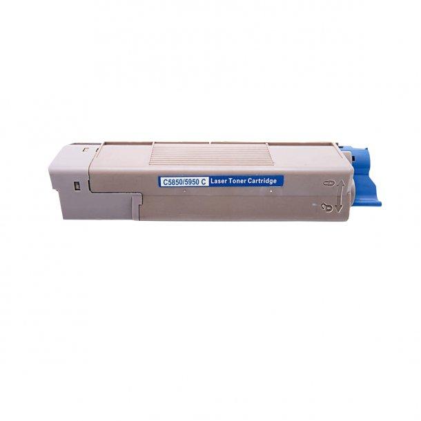 OKI C5850/5950/MC560 C Lasertoner, Cyan, (6000 sider)