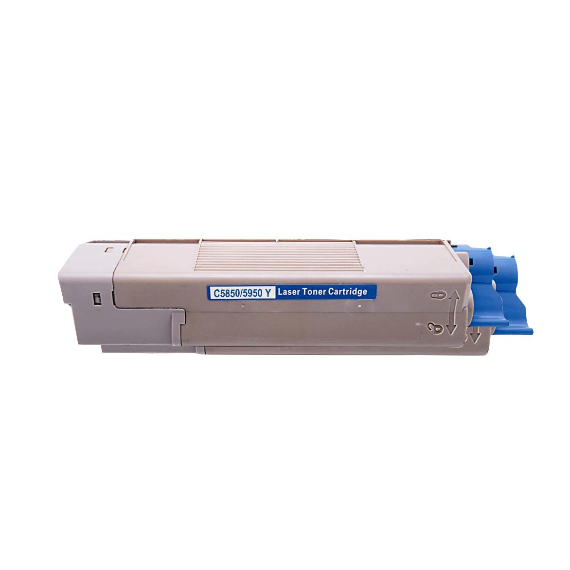 Image of   OKI C5850/5950/MC560 Y Lasertoner, gul, kompatibel (6000 sider)