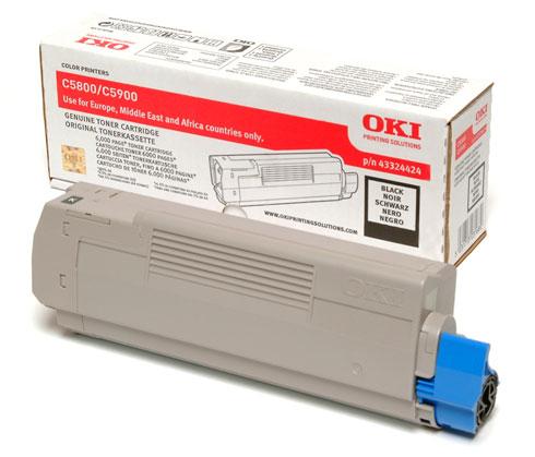 Image of   OKI C5900 BK (43324424) sort Lasertoner, Original
