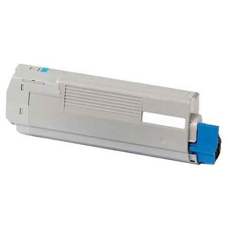 Image of   OKI 44844507 Lasertoner, Cyan, Kompatibel, 10000 sider