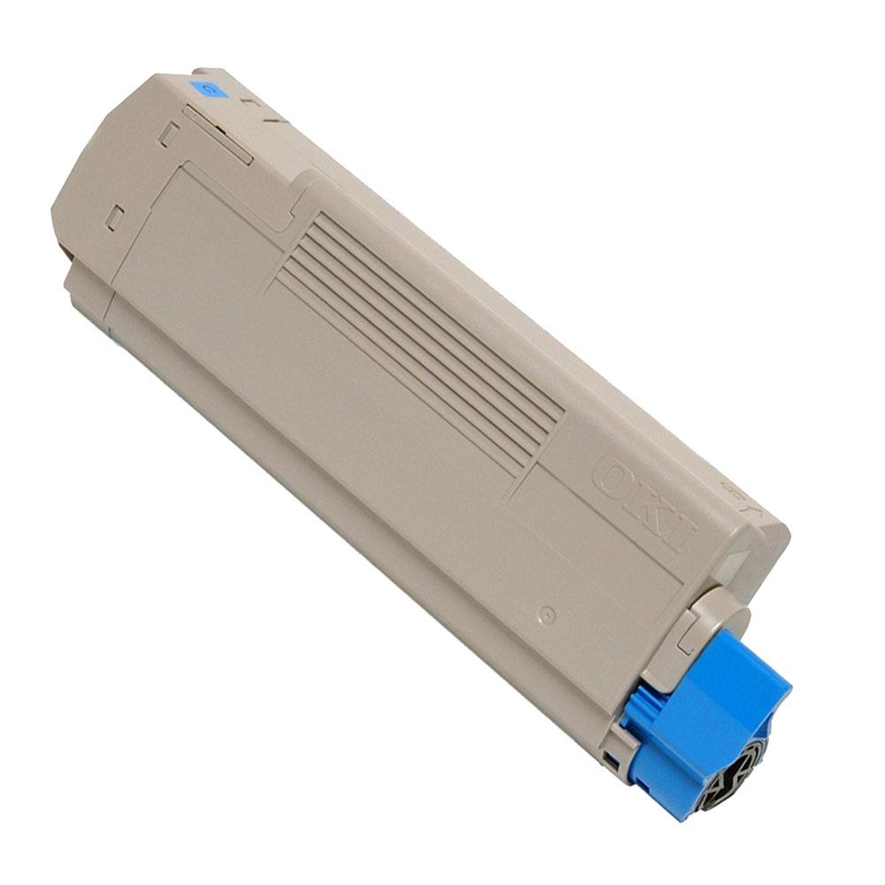 Image of   OKI C5550/C6100/6150 C Lasertoner, Cyan, Kompatibel (6000 sider)