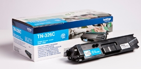 Image of   Brother TN326 C Cyan Lasertoner, Original