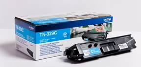 Image of   Brother TN329 C Cyan Lasertoner, Original