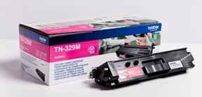 Image of   Brother TN329 M Magenta Lasertoner, Original