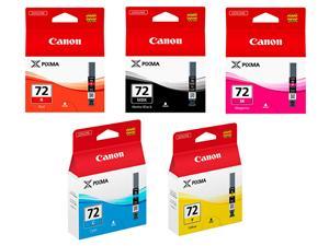 Canon PGI-72 MBK/C/M/Y/R (6402B009) Sampak 5 stk blækpatron, Original