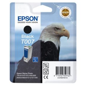 Image of   Epson T007 (C13T00740110), Sort Blækpatron Original