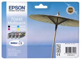 Epson T0445 CMYK (T0441/T0442/T0443/T0444) Blækpatron, sampak 4stk, Original