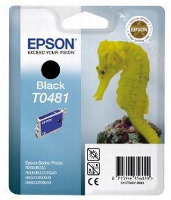 Epson T0481 BK (C13T04814010), Sort Blækpatron, Original