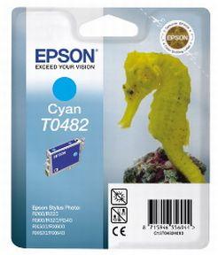 Epson T0482 C (C13T04824010), Cyan Blækpatron, Original