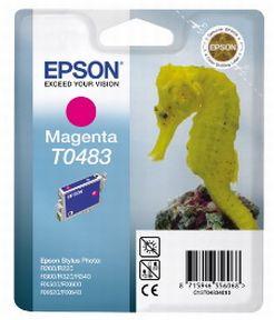 Epson T0483 M (C13T04834010), Magenta Blækpatron, Original