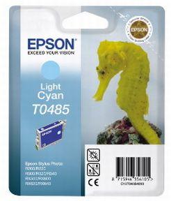 Epson T0485 LC (C13T04854010), Lys Cyan Blækpatron, Original