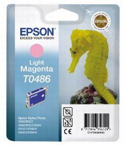 Epson T0486 LM (C13T04864010), Lys Magenta Blækpatron, Original