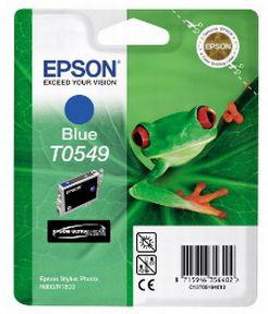 Epson T0549 (C13T05494010), Blå Blækpatron, Original