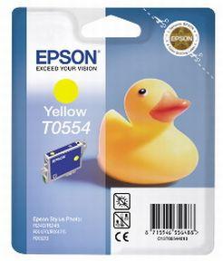 Epson T0554 Y (C13T05544010), Gul Blækpatron, Original