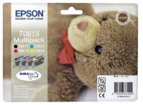 Epson T0615 CMYK, 4 stk Blækpatron, Original