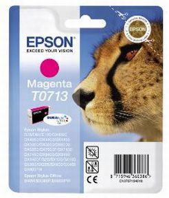 Epson T0713 M (C13T07134012) , Magenta Blækpatron, Original 5,95 ml
