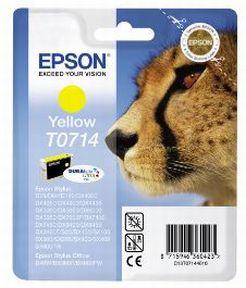 Epson T0714 Y (C13T07144012), Gul Blækpatron, Original 5,95ml