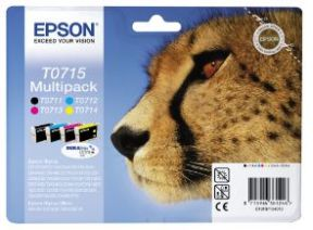 Epson T0715 CMYK Sampak 4 stk, Original