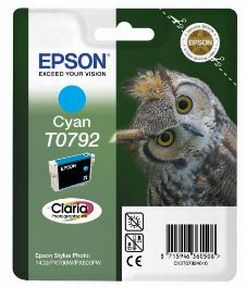 Epson T0792 C (C13T07924010), Cyan Blækpatron, Original