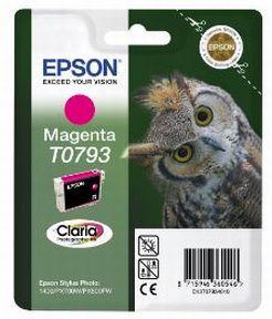 Epson T0793 M (C13T07934010), Magenta Blækpatron, Original