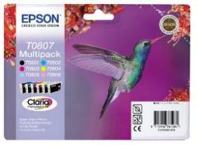 Epson T0807 CMYK LC LM Sampak 6 stk Original
