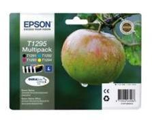 Epson T1295 CMYK (T1291/T1292/T1293/T1294),Sampak 4stk Blækpatron, Original