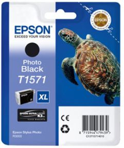 Epson T1571 PBK (C13T15714010), Foto Sort Blækpatron, Original 25,95ml