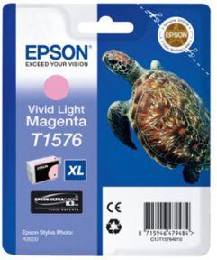 Epson T1576 LM (C13T15764010) Lys Magenta Blækpatron, Original 25,95ml