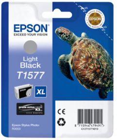 Epson T1577 LBK (C13T15774010) Lys Sort Blækpatron, Original 25,95ml