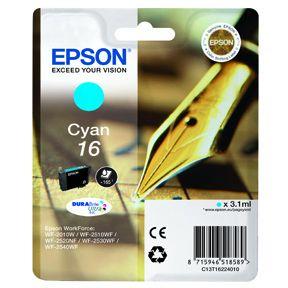 Epson T1622 C (C13T16224012) Cyan Blækpatron, Original