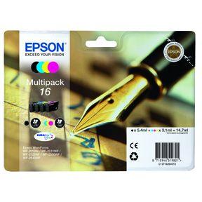 Epson T1626 CMYK (T1621/T1622/T1623/T1624) Sampak 4stk Blækpatron, Original