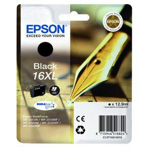Epson T1631 BK(C13T16314012) Sort Blækpatron, Original
