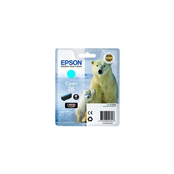 Epson 26 T2612 C – C13T26124010 – Cyan 6 ml