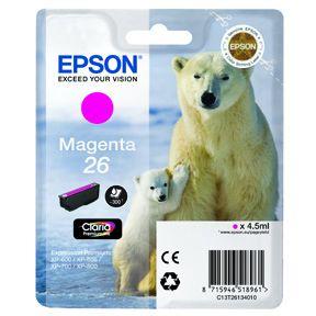 Image of   Epson 26 T2613 M (C13T26134010) Magenta Blækpatron, Original